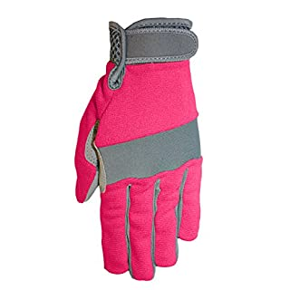 Synthetic Palmed Work or Garden Gloves with Palm Patches and Boxed Fingers, 149F6, Size: Size 7