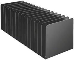 Steelmaster 15 Compartment Desktop Message Rack, 5.5 x 15.19 x 5.87 Inches, Black (26715MRVBK)
