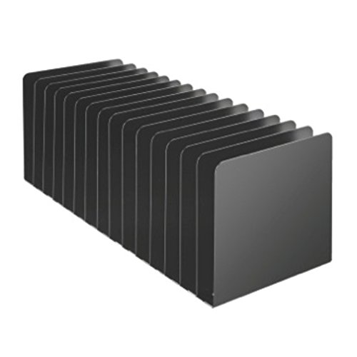 STEELMASTER 15 Compartment Desktop Message Rack, 5.5 x 15.19 x 5.87 Inches, Black (26715MRVBK) ()