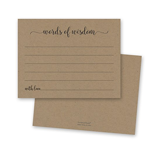 48 cnt Kraft Advice Cards for Happy Couples, Brides-to-be, Graduates, New Parents, New Moms
