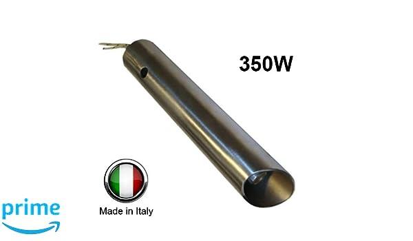 Ferroli Anselmo Cola - Bujía de encendido para estufa de pellets de 350 W, 120 mm/130 mm; diámetro de 16 mm/25 mm: Amazon.es: Jardín