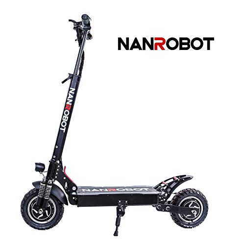 NANROBOT D4+ Pro Powerful Electric Scooter-10 inch Tires,2000W Motor Power Allow for a Top Speed of 40 MPH and 45 Miles Long Range (D4+ PRO Scooter)