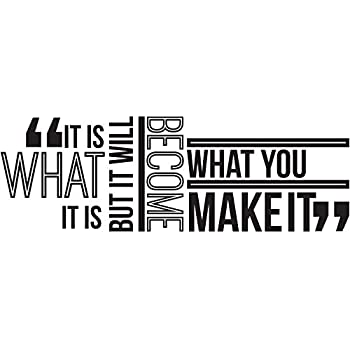 Amazoncom My Vinyl Story It Is What It Is Inspirational Wall Decal