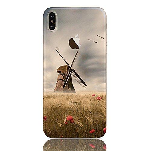 Sunroyal 3D TPU Funda iPhone X/iPhone10 5.8  Para Ligera y Delgada Silicona Suave Gel Funda Protectora Para Teléfono Móvil Casual Premium de Goma Antichoque Protector de La Piel Flexible Para el Cubi Diseño 21