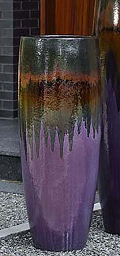 Campania International 115442-5501 Sabine Short Planter, Lava Purple Finish ()