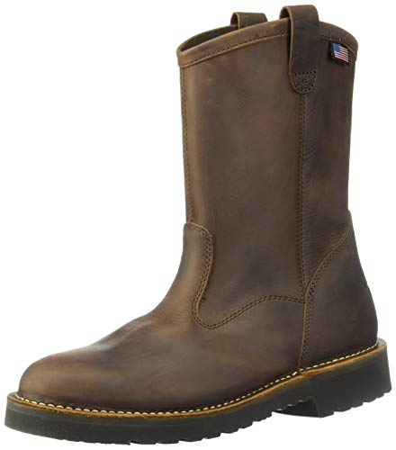 Men Wellington Boots - Danner Men's Bull Run Wellington Construction Boot, Brown, 9 D US