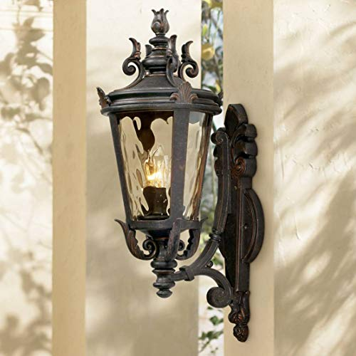 Casa Marseille Traditional Outdoor Wall Light Fixture Mediterranean Veranda Bronze Scroll 22