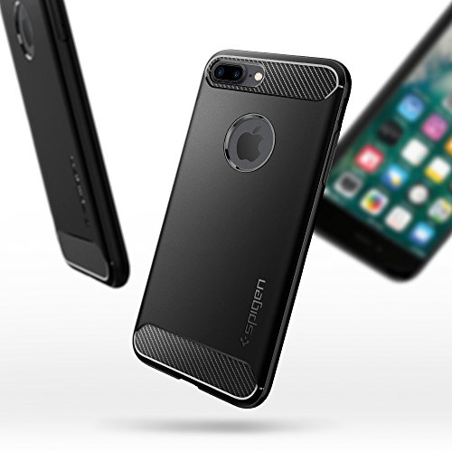 iPhone 7 Plus Case, Spigen [Rugged Armor] Resilient [Black] Ultimate protection from drops and impacts for iPhone 7 Plus (2016) – (043CS20485)