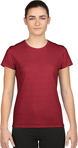 Gildan- Camiseta de deporte de manga Core Performance corta para chica Rojo