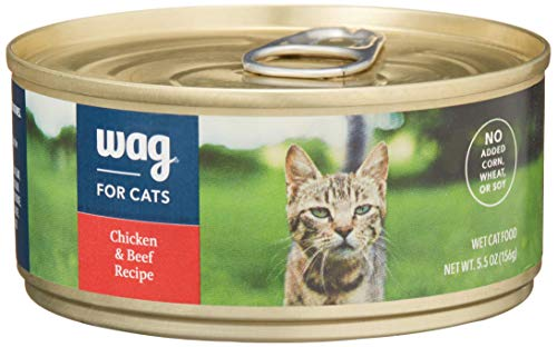 Amazon Brand – Wag Wet Cat Food 3 oz/5.5 oz (Pack of 24)