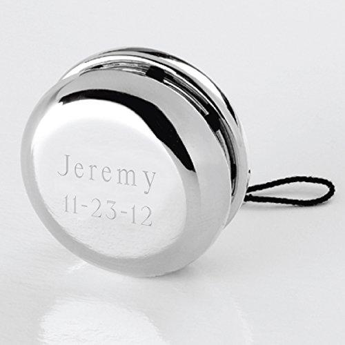 Engraved Silver Plated Yo-Yo - Engraved Yo-Yo - Personalized Yo-Yo - Monogrammed Yo-Yo - Custom Yo-Yo