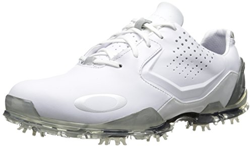 2015 Oakley CarbonPro 2 Tour Performance Leather Mens Golf Shoes-Waterproof White 7.5UK