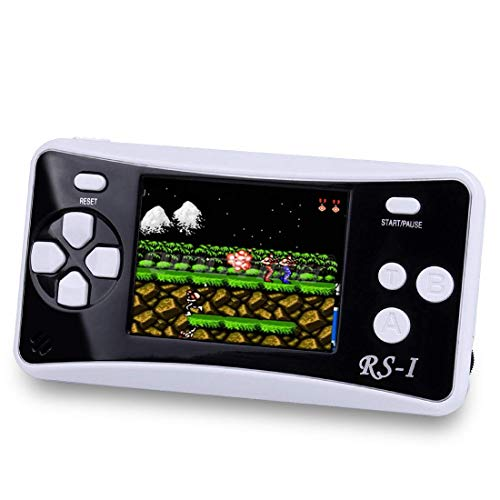 SKYRC Handheld Game Console for Kids,Classic Retro Game Player with 2.5 LCD 8-Bit Portable Video Games Compatible with PAL AAD NTSC TV ,152 in 1 Classic Games -- (Black)
