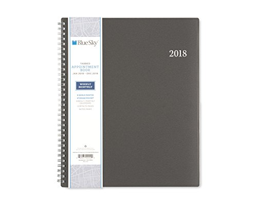 """Blue Sky 2018 Appointment Book, Twin-Wire Binding, 8.5"""" x 11"""", Passages -  100009"""