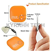 Original Nut 2 : Smart Key Finder Anti-Lost Tag - Bluetooth Cell Phone Wallet Bags Pet Tracker with App Control for iPhone/iPod / iPad/iOS Android Devices (Orange)