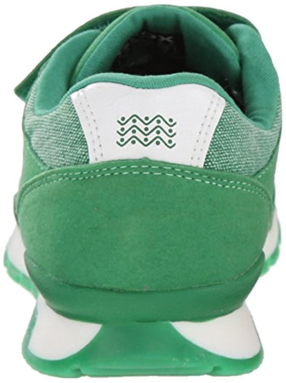 Geox Boys' J PAVEL C Low-Top Sneakers, Green (GREENC3000), 1 UK