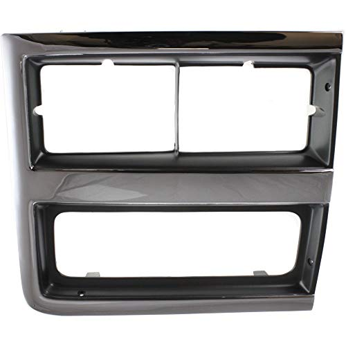 Headlight Door for Chevrolet Suburban 89-91 RH Dual Head Lamps Right Side