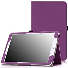 MoKo Tab E 9.6 Case - Slim Folding Cover for Samsung Galaxy Tab E / Tab E Nook 9.6 Inch 2015 Tablet (Fit Both WiFi and Verizon 4G LTE Version), PURPLE