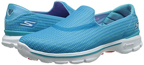 Pour 3 Bleu turq Femme Chaussures Gowalk Skechers De Marche aTAaRq