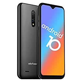 Unlocked Smartphones, Ulefone Note 8 (2020) Android 10, Dual Sim Unlocked Cell Phones, Dual Rear Camera, Triple Card Slots, 5.5″ Waterdrop Full-Screen Phones, 2700mAh, Face Unlock, US Version – Black