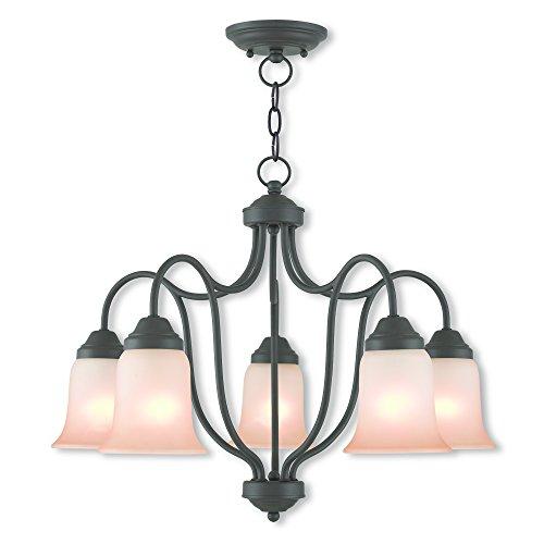 Livex Lighting 40705-07 Karysa 5 Light Bronze Dinette/Ceiling Mount,