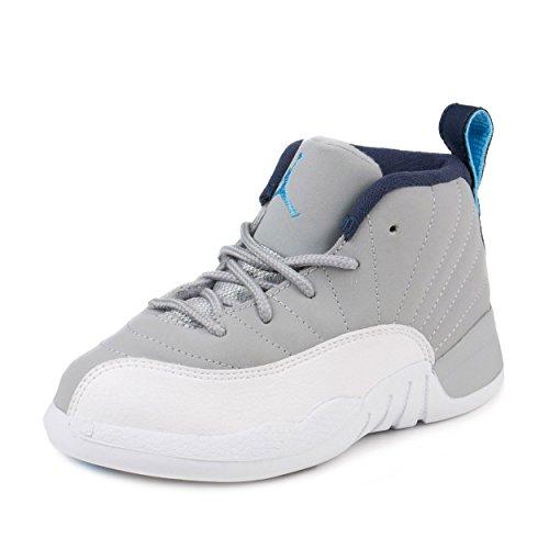 Nike Baby Boys Jordan 12 Retro BT ''Wolf Grey'' Wolf Grey/University Blue Leather Size 8C by NIKE