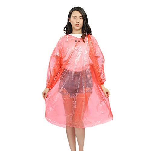 ❤Lemoning❤ 10 Pack Bulk Extra Thick Emergency Waterproof Rain Poncho with Drawstring Hood Raincoat for Men Women Plastic Clear Rain GEA