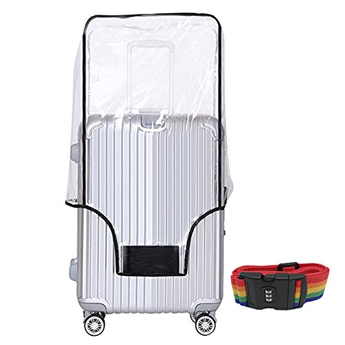 20 24 28 30 Inch Luggage Cover Protector Bag PVC Clear Plastic Suitcase Cover Protectors Travel Luggage Sleeve Protector for Carry on Luggage Rolling Wheeled Suitcase (28 Inch ( 19.8 x 12.8 x 28''))