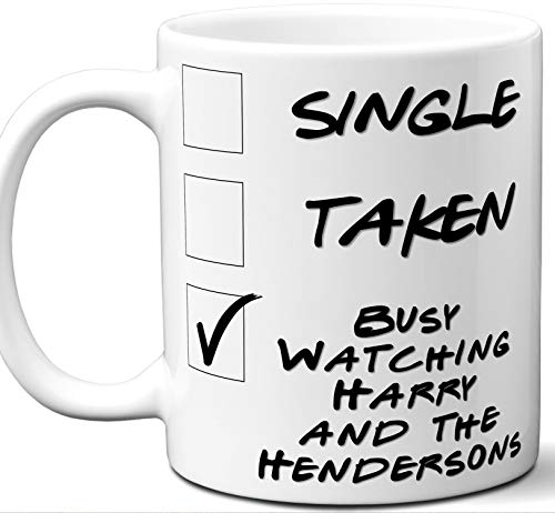 Henderson Autographs (Harry and the Hendersons Gift for Fans, Lovers. Funny Parody TV Show Mug. Single, Taken, Busy Watching. Poster, Men, Memorabilia, Women, Birthday, Christmas, Father's Day, Mother's Day.)