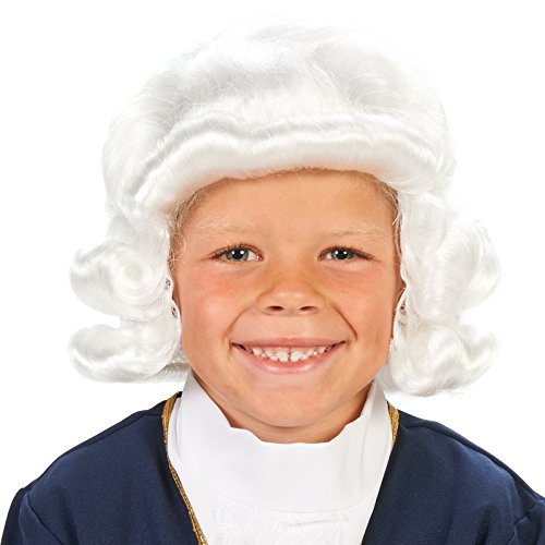 Dream Weavers Costumers White Colonial Child Wig