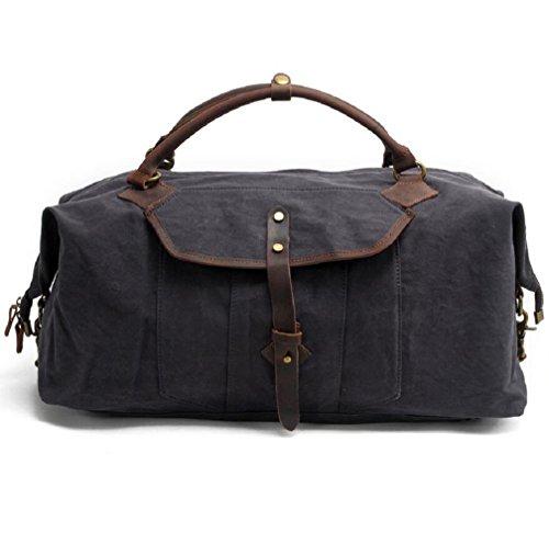 ZC&J Bolso de viaje de mano para hombres, 36-55L Bolso de equipaje de gran capacidad Bolso de viaje de negocios Bolso de viaje corto Bolsa de deporte,B,36-55L B