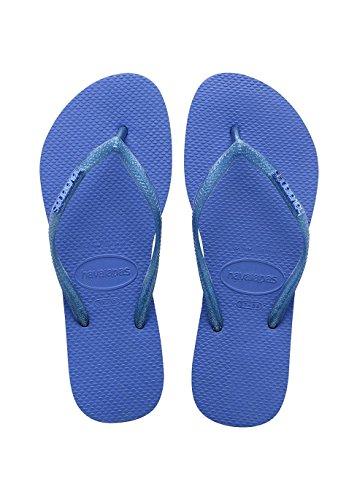Chanclas azules Slim Logo Metallic Azul (Blue Star 3847)