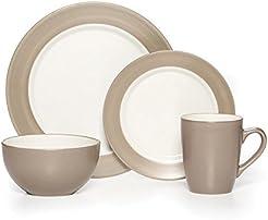 Pfaltzgraff Harmony Taupe 16-Piece Stoneware Dinnerware Set Service for 4  sc 1 st  Amazon.com & Amazon.com: Beige - Dinnerware Sets / Dining u0026 Entertaining: Home ...