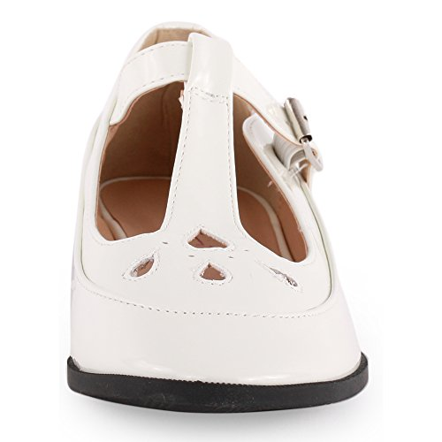 Dolcis Brest Womens Synthetic Flats White - 37 EU