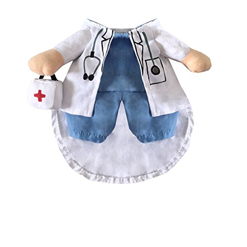 Delifur Dog Halloween Costume Cat Doctor Costume Pet Doctor Uniform Funny by (L)
