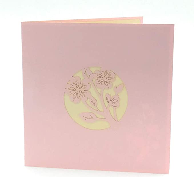Amazon Cherry Blossom 3d Pop Up Card Romantic Card To