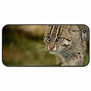 iPhone 5 5S Black Hardshell Case fishing wild paw snout Desin Images Protector Back Cover