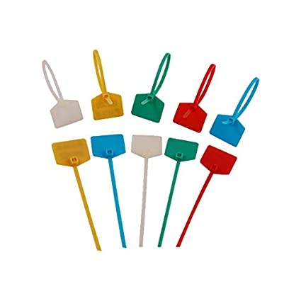 ZIP TIES Quality Write On Label ID Strong Plastic Nylon Strap UK MARKER CABLE