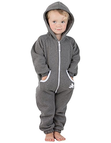 Footed Pajamas Family Matching Charcoal Gray Infant Footless Hoodie One Piece - (Baby Adult Sweatshirt)