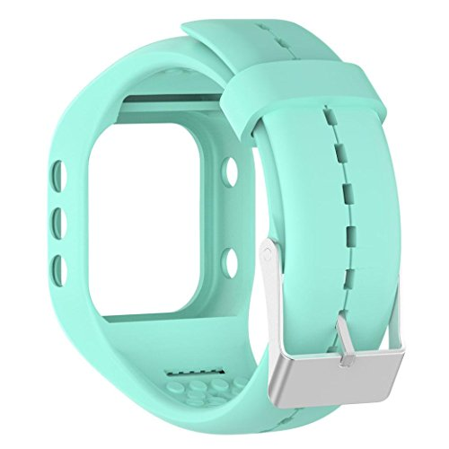 Alonea Soft Silicone Rubber Watch Band Wrist Strap For Polar A300 Fitness Watch (Sky Blue)