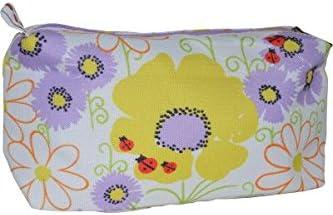 De tamaño grande con diseño de flores y cuadros Clinique diseño de marina ignarksi UK/de color blanco de Maquillaje bolsa para raquetas de tenis: Amazon.es: Belleza