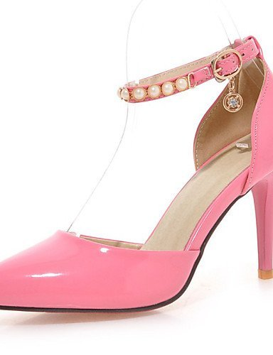 ShangYi Womens Shoes Patent Leather Stiletto Heel DOrsay & Two-Piece Sandals Party & Evening Black Pink White Beige White