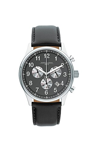 Jorg Gray JG5500-23 Men's Watch Chronograph Gray Dial with Black Leather Strap by Jorg Gray