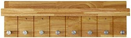 ZEMIN コートラック ウォールマウントコートラックスタンドハンガーハット服ホルダーフックソリッドウッド、ログカラー、3サイズあり (サイズ さいず : 8-Hooks)