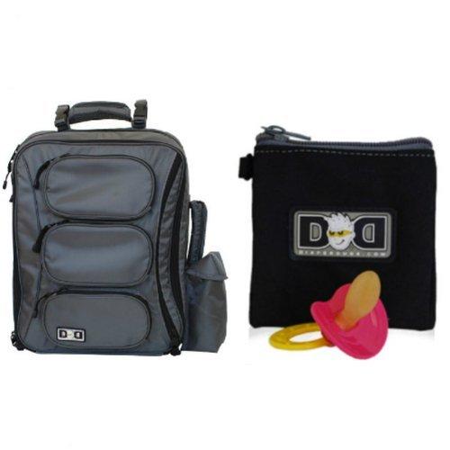 bundle-2-items-diaper-dude-convertible-messenger-backpack-color-grey-diaper-dude-pacifier-holder-col