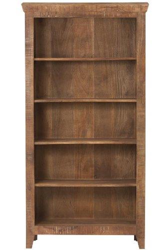 Holbrook 5 shelf Bookcase, 72″Hx36″Wx14″D, RCLMED NATURAL For Sale