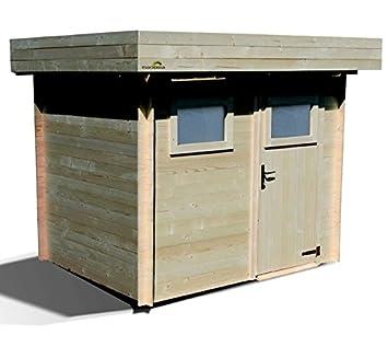 Abri de jardin Moderne en Bois Mikki 4,80 m² épaisseur 19 mm: Amazon ...