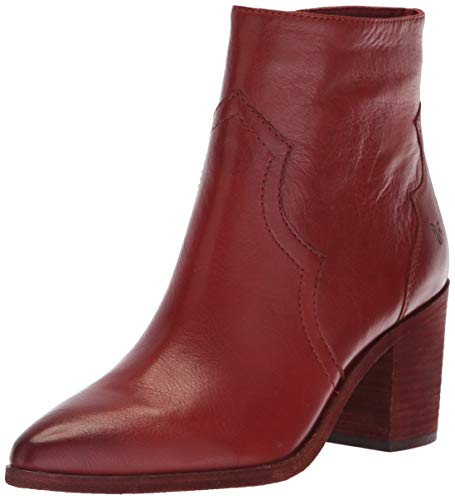 FRYE Women's Flynn Short Inside Zip Ankle Boot, red Clay, 7 M US