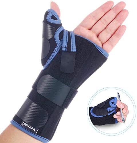 Velpeau Wrist Brace with Thumb Spica Splint for De Quervain's Tenosynovitis, Carpal Tunnel Pain, Stabilizer for Tendonitis, Arthritis, Sprains & Fracture Forearm Support Cast (Regular, Left Hand -S)