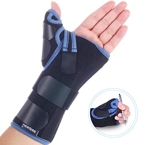 Velpeau Wrist Brace with Thumb Spica Splint for De Quervain's Tenosynovitis, Carpal Tunnel Pain, Stabilizer for Tendonitis, Arthritis, Sprains & Fracture Forearm Support Cast (Regula, Left Hand -S)